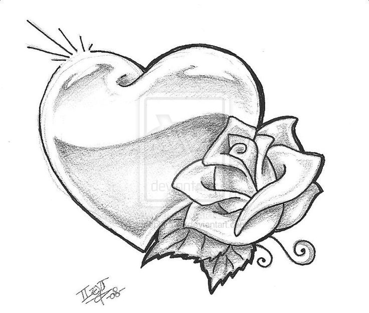 drawings of hearts - 800×679