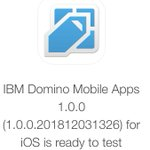 Image for the Tweet beginning: IBM Domino Mobile Apps 1.0.0