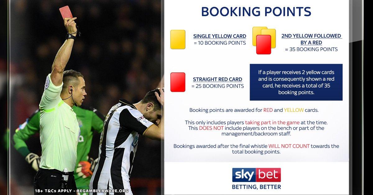 Booking points football betting bitcoins xapo