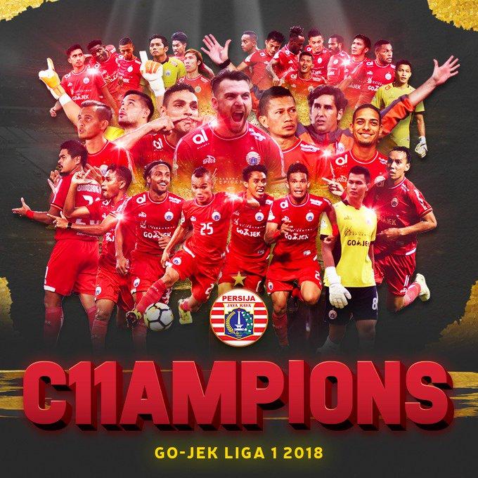 Terima kasih untuk semua yang mendoakan Persija Jakarta menjadi Juara Liga Indonesia, doa kalian terkabul. PERSIJA JAKARTA CHAMPIONS OF GO-JEK LIGA 1 2018! 🏆🏆🏆🏆🏆🏆🏆🏆🏆🏆🏆 #PersijaJakarta #PersijaDay Photo