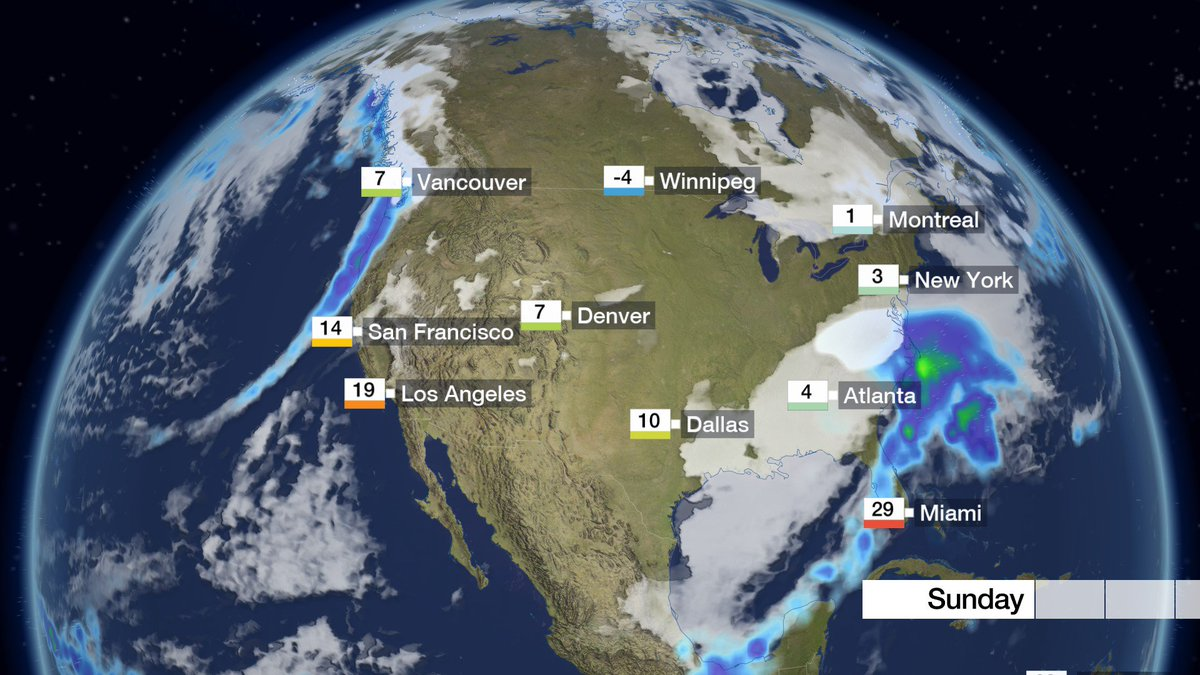 A winter storm is disrupting travel in the mid-Atlantic states of the USA. More wet weather is moving into the west. Nick
