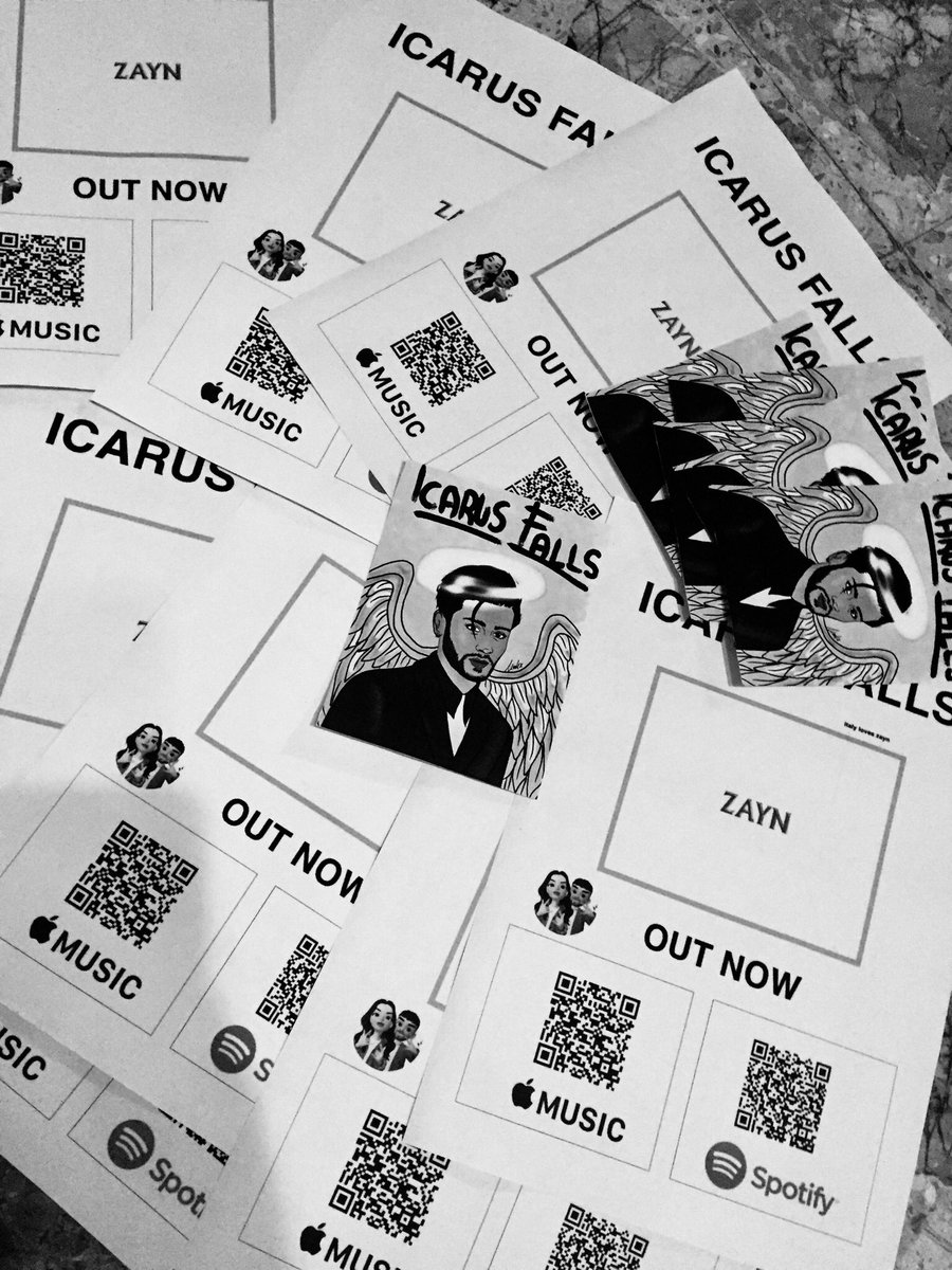 OMGSV I'VE PRINTED A LOT OF PAPERS TO SPREAD THEM IN MY CITY, I CAN'T WAITTT  @zaynmalik    14th December #ICARUSFALLS 5 DAYSS @inZAYN #Rainberry #GoodYears    Pre-order:  http:// smarturl.it/IcarusFallsZZ     <br>http://pic.twitter.com/Ziy2a2EGbX