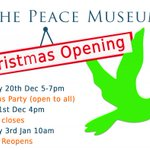 Image for the Tweet beginning: The Peace Museum Christmas Peace