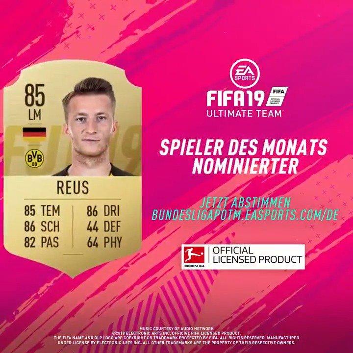 6⃣ Nominierte - nur 1⃣ kann gewinnen 🗳️ #POTM #FUT #FIFA19 @BVB  Stimme ab für @woodyinho und mache ihn zum #BundesligaPOTM 👉 http://bundesligapotm.easports.com/de