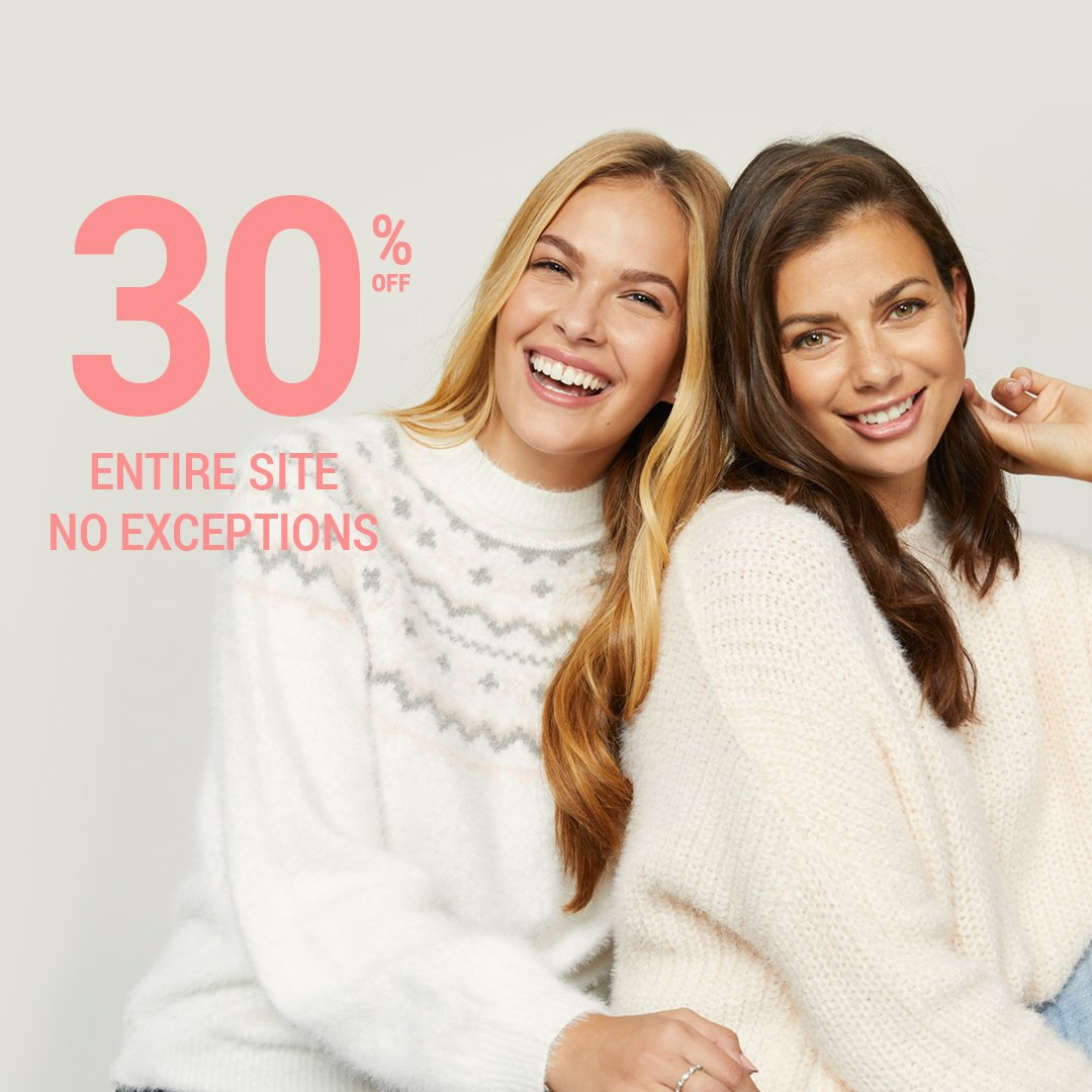 8efe484b777e8 Enjoy 30% off our ENTIRE SITE – no exceptions! Online exclusive promotion  for a limited time only. Shop Now http   ow.ly zOXX50jT4q4 pic.twitter.com   ...