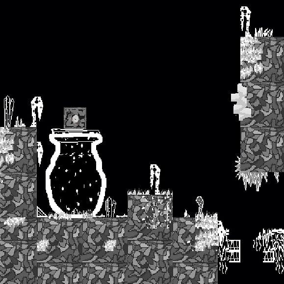 Working on tutorial/intro level to explain game mechanics. Here The Sprite on a Jar #screenshotsaturday #gamedev Photo
