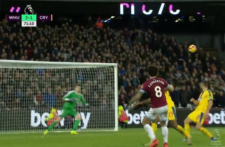 Wayne Hennessy probably has PTSD from curving shots against West Ham. Both of these went into the net. Mad.
