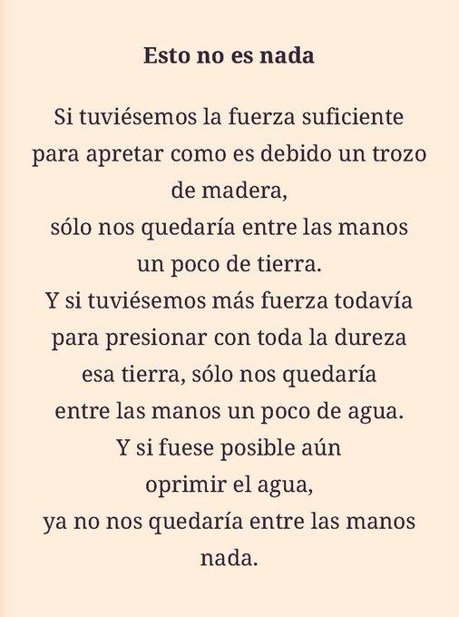 Pensadlo. Tanto al derecho cómo al revés. El poema es de Ángel González. ¡Feliz domingo! Foto