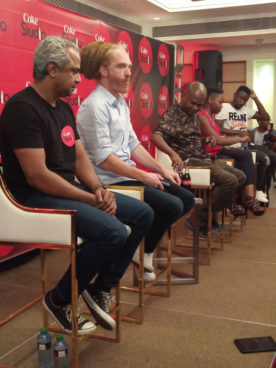 The #CokeStudioAfrica MasterClass panel ready to share ideas and answer any questions in relation to the African film & music industry.   Do you have any questions for them? pic.twitter.com/mdg7hm4FUr