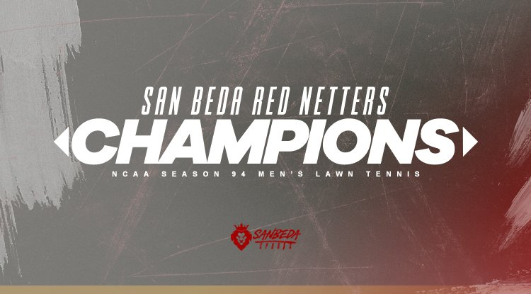 Congratulations San Beda Red Netters for bagging the #NCAASeason94 Lawn Tennis title! #AnimoSanBeda<br>http://pic.twitter.com/yb7zarWzD2