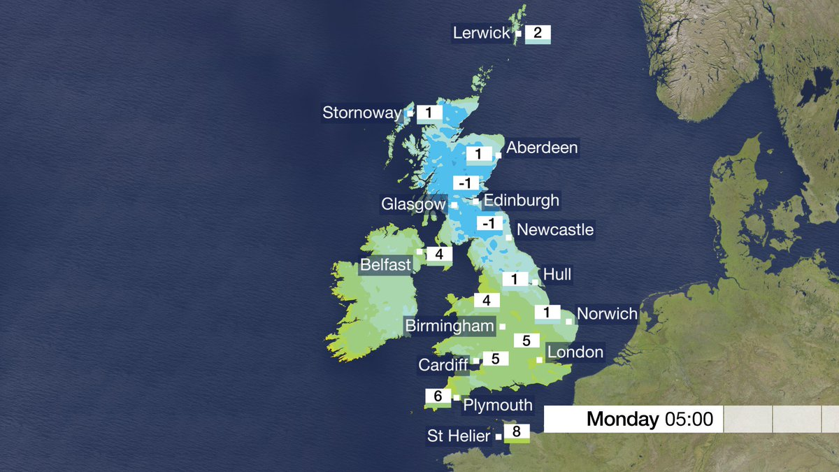 A chilly night to come with a frost for some, mainly in the north and east. Mel