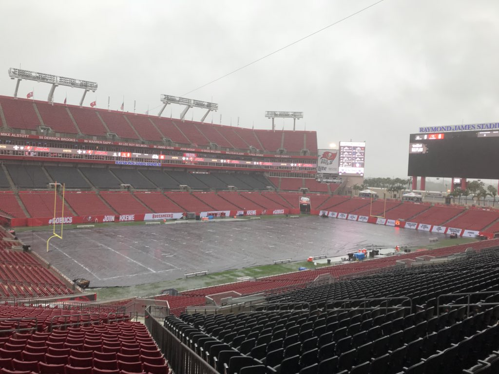 The [emailprotected] on the field at @RayJay three hours prior to kickoff between  the @Buccaneers and @Saints . Bucs need win to stay alive in postseason ...