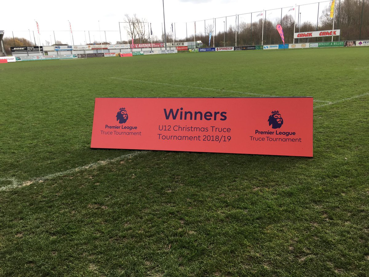 And the winners of @premierleague Christmas Truce Tournament 2018 are..... @CardiffCityFC U12 Congratulations!