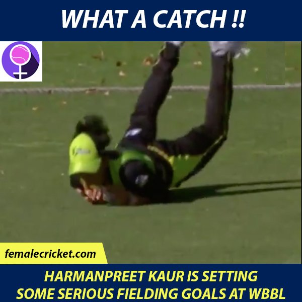 @ImHarmanpreet setting some serious fielding goals at @WBBL this year 😍 #WBBL04 #WATCHME Photo