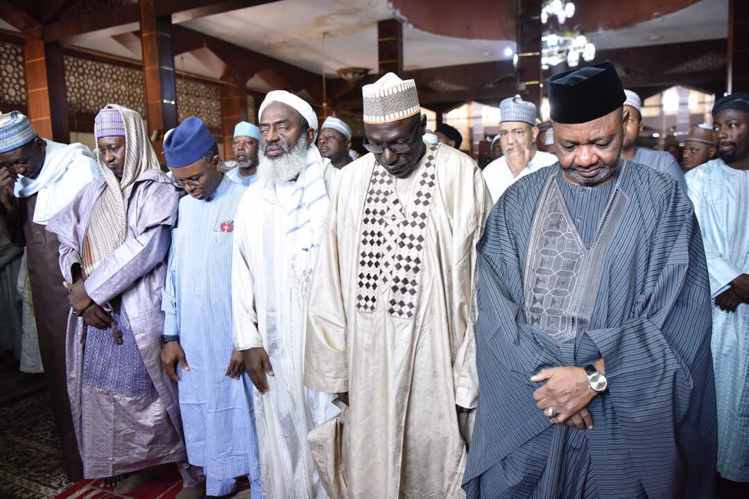 This afternoon, Governor Nasir Ahmad @elrufai attended the funeral prayer for late Senator Ahmad Mukhtar Aruwa. Senator Aruwa was a Senator and philanthropist from Kaduna State.  May his soul rest in peace. Amin! <br>http://pic.twitter.com/DeonBM7vHh