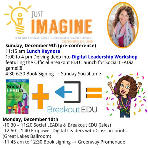 Can't wait to meet you at #TIES18 Here's where I'll be for the next two days :)