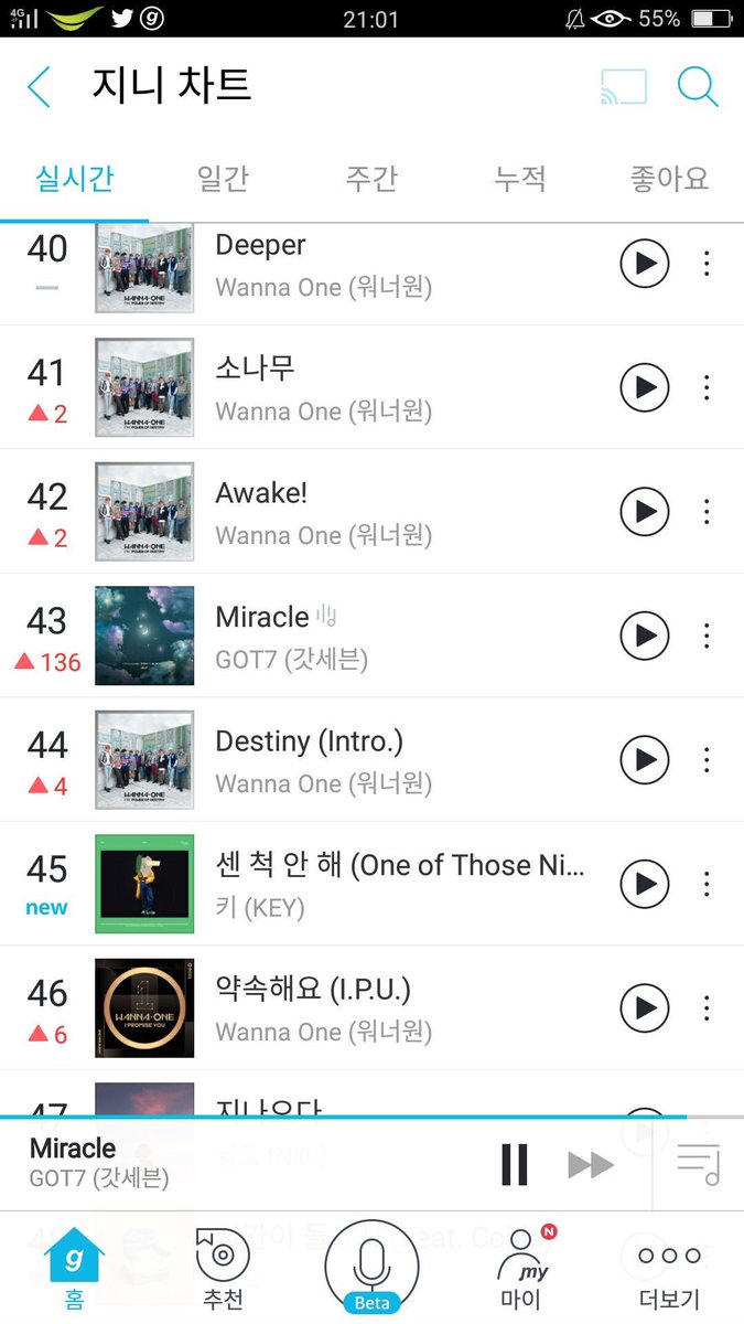 Genie 11PM KST   #43 (+136)   Well done Genie team !!!  Photo cr. teamgot7th  #GOT7   @GOT7Official<br>http://pic.twitter.com/6tDkkCxSHT