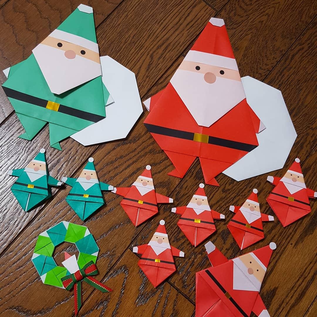 サンタクロース 折り紙