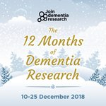 It's been an eventful year. This festive season, join us as we celebrate some of the biggest #dementia research moments of 2018. 🎄🗓️  Starting Monday, every weekday until #Christmas here on Twitter we'll be revealing our dementia #research highlight for each month.
