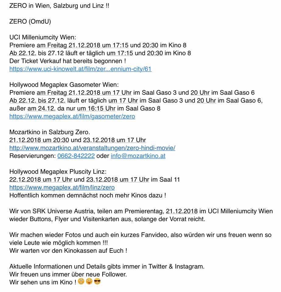 Srk Universe Austria On Twitter 13daystozero Austria Cinema