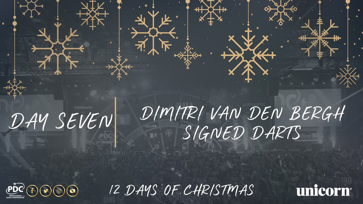 DAY SEVEN!  RT to be in with the chance of winning a signed set of @VandenBerghDimi darts, courtesy of @UnicornDarts https://t.co/Qh5ZwRXshF