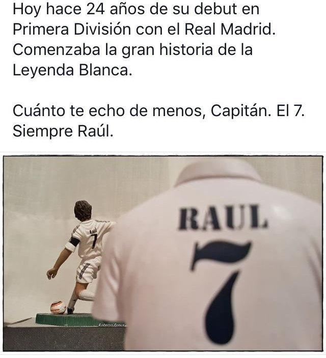 #RAUL #RealMadridMelilla #Ávila #leyendablanca #capitan #el7 #roberponce