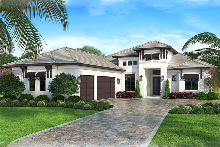 Best House Plans On Twitter This Classic 1 Story Florida House Plan Is Designed With 2 400 Sq Ft 4 Bedrooms 3 Bathrooms A Lanai A Studio And An Open Floor Plan Explore Plan