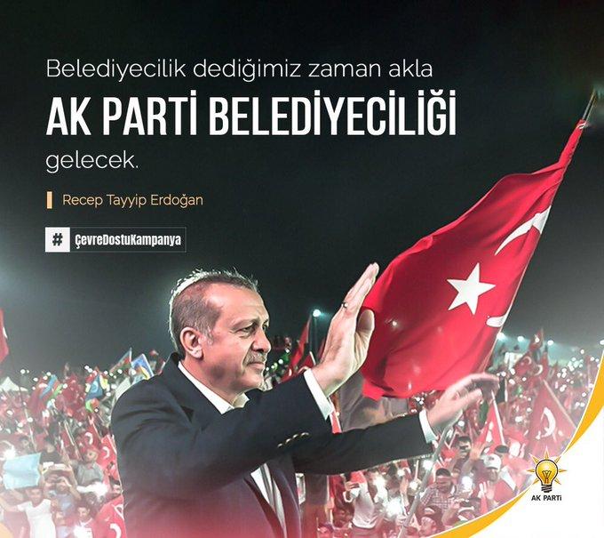 """""""Belediyecilik dediğimiz zaman akla AK Parti belediyeciliği gelecek."""" #ÇevreDostuKampanya Photo"""