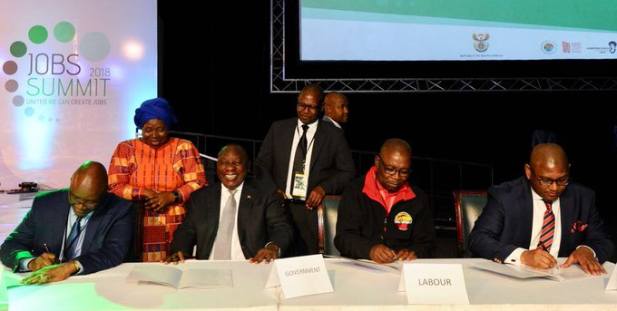 PRESIDENT PROCLAIMS NATIONAL MINIMUM WAGE EFFECTIVE DATE Today acknowledges the contributions made by representatives of government, business, labour & community under NEDLAC to achieve the consensus that produced a national minimum wage of R20 per hour. #NationalMinimumWage Photo