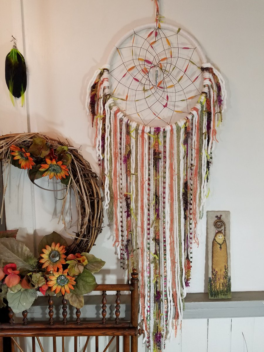 Looking for a dreamcatcher for that special couple! Extra Large Bohemian Dreamcatcher Wall Hanging #BohoDecorDreamcatcher #RusticDecor #DreamCatcher #GiftForHerorHim #BohoCouple Gift https://etsy.me/2Przw8e  #carriagehousedreams.com #homedecor #beige #kitchendiningpic.twitter.com/iAF4JiddXE