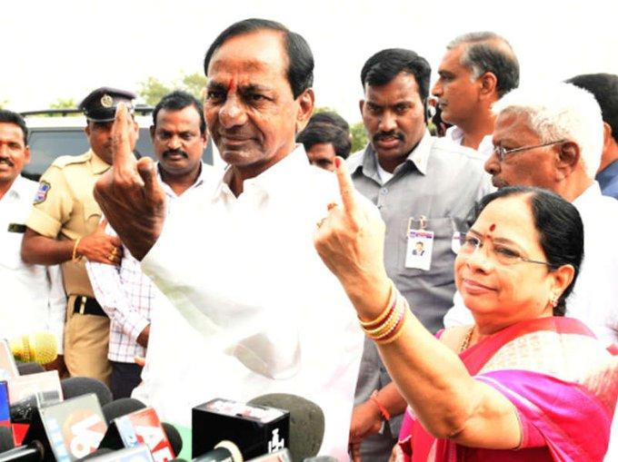 #ElectionWithTimes | Telangana #Exitpolls 2018 latest updates Photo
