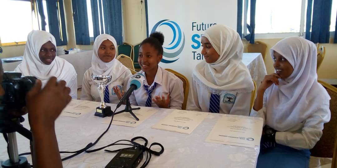 CONGRATULATIONS..!!  The WINNERS of #FutureStemTz 2018 students from Baobab Secondary School (Faget Company)  Their idea is to reduce levels of concentration of harmfull exhaust gases from cars to prevent air polution #FutureStemTz @PhysicsNews<br>http://pic.twitter.com/9AZmV2tv5Z