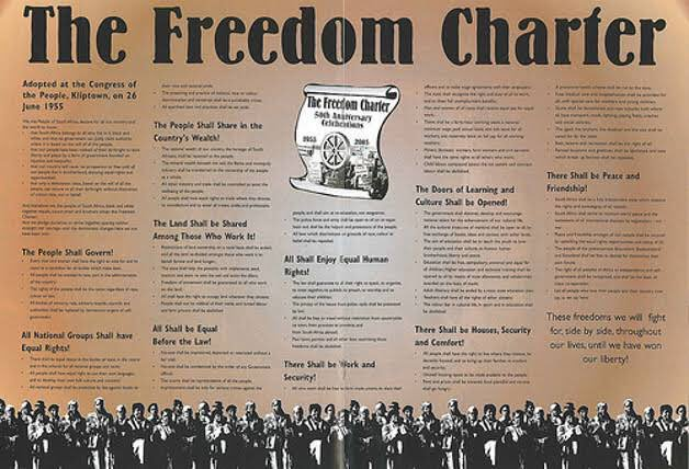 PRESIDENT PROCLAIMS NATIONAL MINIMUM WAGE EFFECTIVE DATE Kliptown was selected for this engagement for its place in our liberation history as the site of adoption of the Freedom Charter which called for a minimum wage to protect vulnerable workers. #NationalMinimumWage Photo