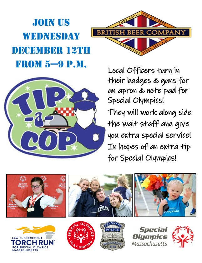Tip a Cop - Special Olympics Fund Raising  - Dec 12