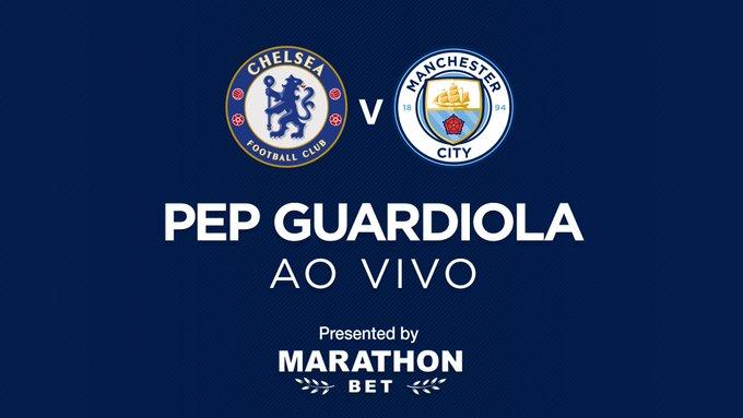 COLETIVA| Acompanhe a habitual coletiva de Pep Guardiola à imprensa, em véspera de grande jogo com o @ChelseaFC_pt ! #MCFCPortugues #CHEMCI Photo