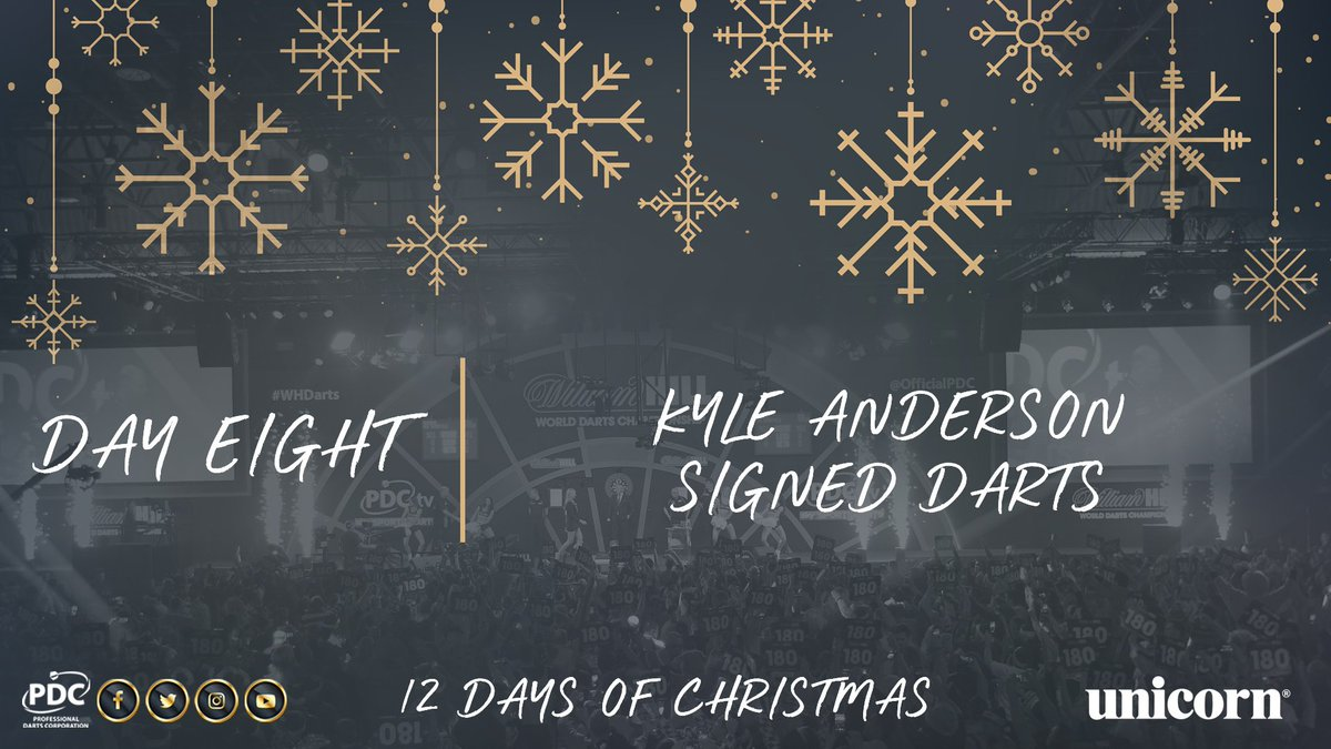 DAY EIGHT!  RT to be in with the chance of winning a signed set of Kyle Anderson darts https://t.co/18I77rmxNu