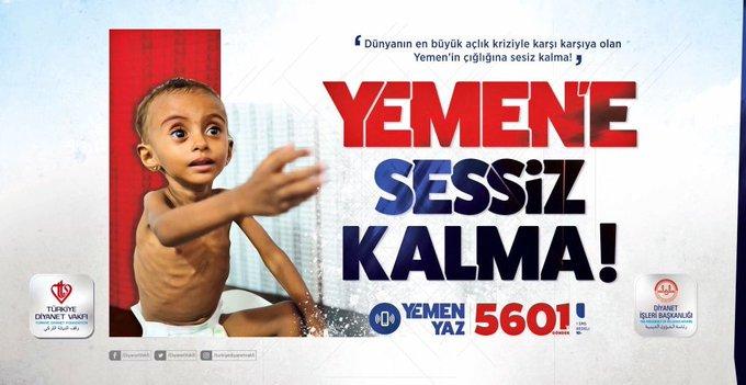 Aziz milletimizi Yemen'de yaşama mücadelesi veren milyonlarca mağdur ve mazlum kardeşimiz için Diyanet İşleri Başkanlığımızın başlattığı kampanyaya katılmaya davet ediyorum. #YemeneSessizKalma Fotoğraf