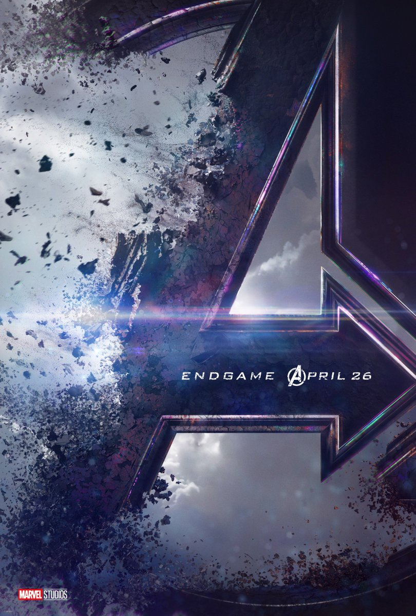 Check out the new poster for Marvel Studios #AvengersEndgame. In theaters April 26, 2019.