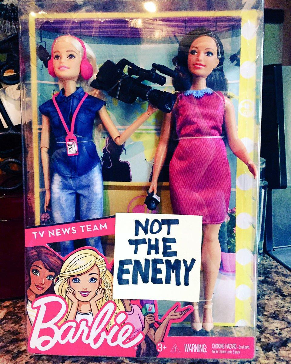 Even @Barbie gets it. #NotTheEnemy #REALnews #1A