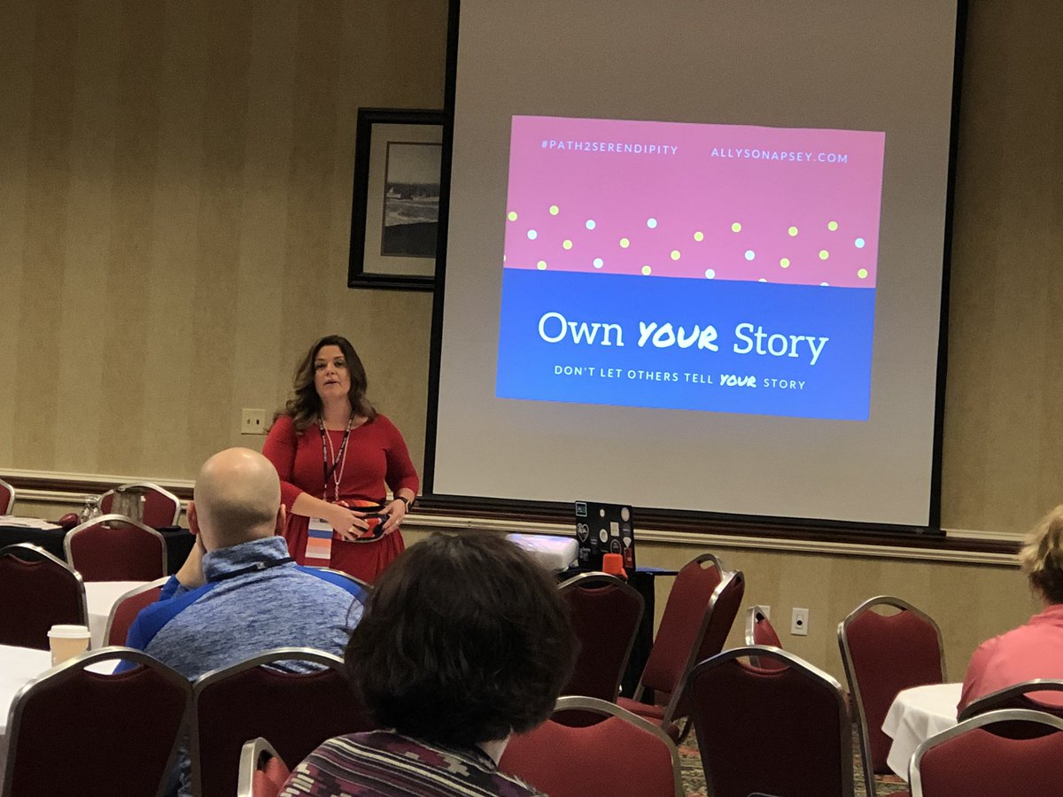 Thank you @AllysonApsey for bringing some serendipity into our lives! #MEMSPA18 inspiring!