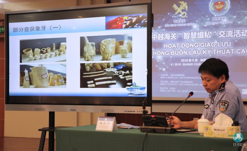 Proud to support a cross-border China-Vietnam law enforcement workshop to share information &amp; techniques in combating wildlife trafficking. Within a month, Vietnam Customs made 3 big seizures of ivory, pangolin scales, &amp; rhino horn. #EndWildlifeCrime <br>http://pic.twitter.com/DSSVPnDzF6