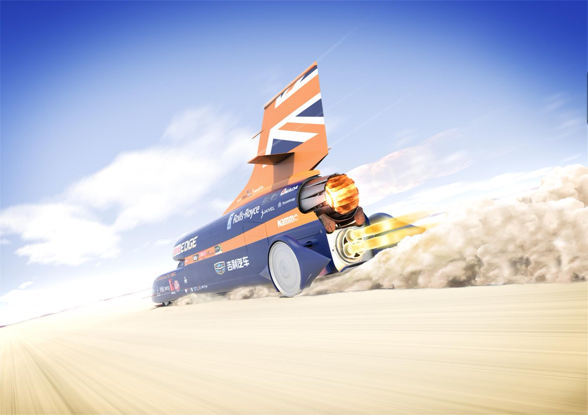 Anyone after a big car? The dreams if the #Bloodhound supersonic vehicle - built with a Rolls-Royce Eurofighter jet engine bolted to a rocket - are over. The car is for sale and can be yours for about £250,000.  https:// goo.gl/wRGv3f  &nbsp;   #usedcars<br>http://pic.twitter.com/bdEWoOkagV