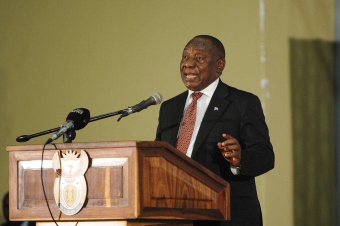 We have gathered here to declare that from the 1st of January 2019, no worker may be paid below the #NationalMinimumWage - President Cyril Ramaphosa Photo