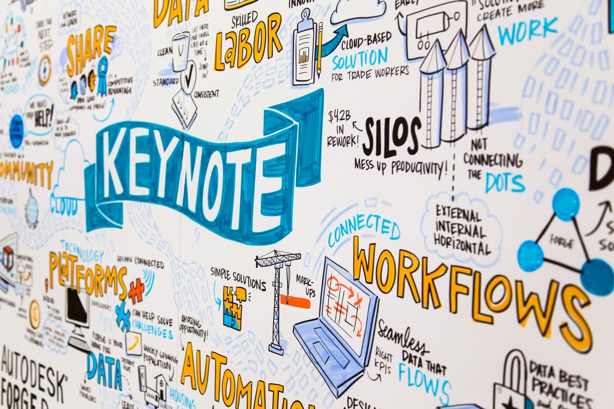#VisualNotes are the perfect way to document important #keynote speeches and share them with others, like this one from @autodesk's #ForgeDevCon.