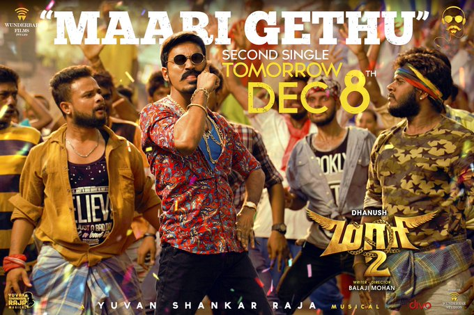 #maari2 ... song two #maarigethu composed and written by @thisisysr will be releasing Tom at 11 am !! Photo