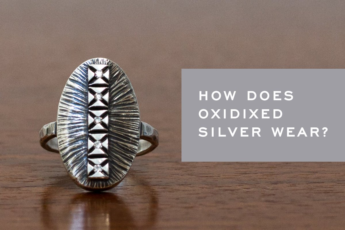 How long does the blackened finish on oxidized silver last? See the experiment here: bit.ly/2rOSY7g