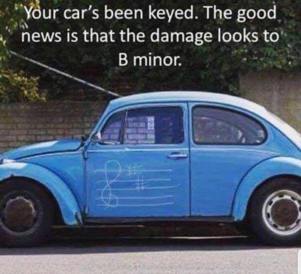"""Janet Horvath On Twitter: """"your Car's Been Keyed. The Good"""