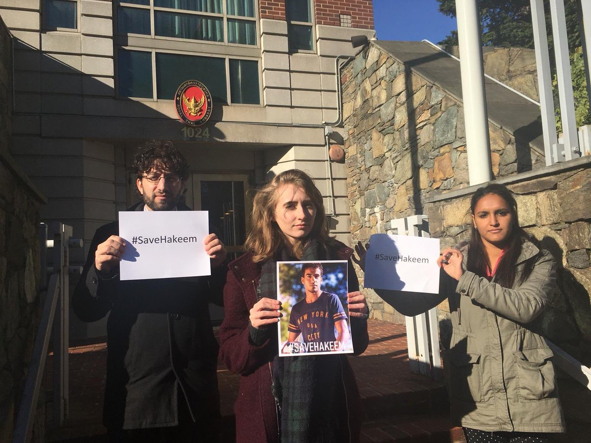 World Movement participants call for a stop to the deportation of Australian Bahraini dissident Hakeem Al-Araibi from #Thailand to #Bahrain. Given Bahrain's poor #HumanRights record concerning dissidents, many are fearful he will face torture upon return #SaveHakeem