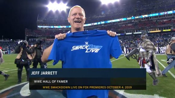 Jeff Jarrett Promotes WWE SmackDown Coming To Fox At NFL Game (Photo, Video)