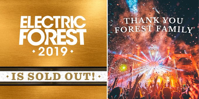 Electric Forest 2019 is officially sold out! ⚡️🌲 #EF2019 Extending the deepest gratitude to the entire #ForestFamily. Photo